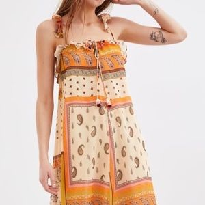 Zara Paisley Maxi Dress New Size XXS